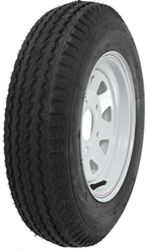 "Kenda 5.30-12 Bias Trailer Tire with 12"" White Wheel - 5 on 4-1/2 - Load Range B"