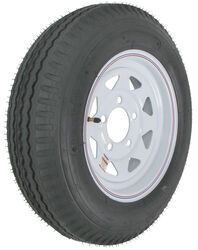 "Kenda Loadstar 5.30-12 Bias Trailer Tire with 12"" White Wheel - 5 on 4-1/2 - Load Range C"