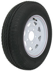"Kenda 5.30-12 Bias Trailer Tire with 12"" White Wheel - 5 on 4-1/2 - Load Range D"