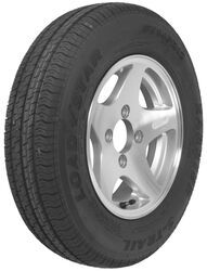 "Kenda KR25 ST145R12 Radial Trailer Tire with 12"" Aluminum Wheel - 4 on 4 - Load Range D"