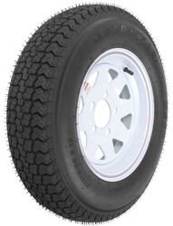 "Loadstar ST175/80D13 Bias Trailer Tire with 13"" White Wheel - 5 on 4-1/2 - Load Range D"
