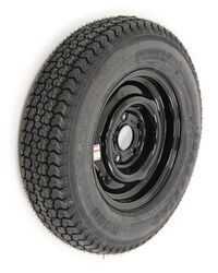 "Loadstar ST175/80D13 Bias Trailer Tire with 13"" Black Wheel with +.5 Offset - 5 on 4-1/2 - LR D"