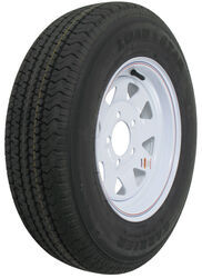 "Karrier ST175/80R13 Radial Trailer Tire with 13"" White Wheel - 5 on 4-1/2 - Load Range C"