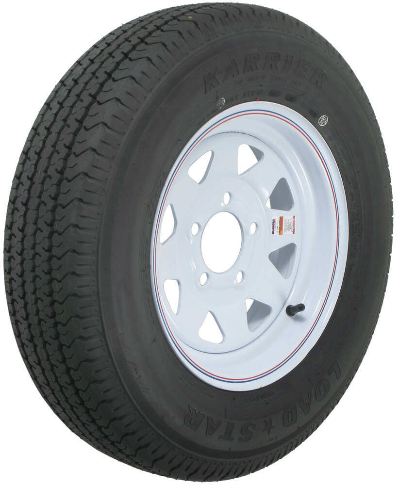 karrier str radial trailer tire   white wheel     load range  kenda