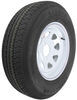 "Karrier ST205/75R14 Radial Trailer Tire with 14"" White Wheel - 5 on 4-1/2 - Load Range C"