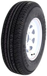 "Karrier ST205/75R14 Radial Trailer Tire w/ 14"" White Wheel - 5 on 4-1/2 - Load Range D"