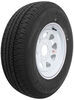 "Karrier ST215/75R14 Radial Trailer Tire with 14"" White Wheel - 5 on 4-1/2 - Load Range C"