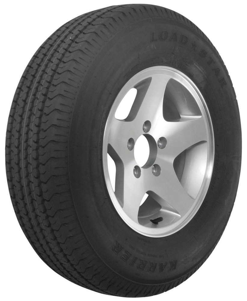 karrier st215 75r14 radial trailer tire with 14 aluminum wheel 5 on 4 1 2 load range c. Black Bedroom Furniture Sets. Home Design Ideas