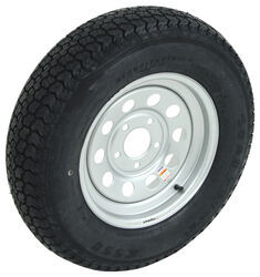 "Loadstar ST205/75D15 Bias Trailer Tire w/ 15"" Silver Mod Wheel - 5 on 5 - Load Range C"