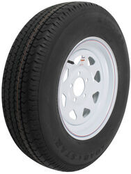 "Karrier ST205/75R15 Radial Trailer Tire with 15"" White Wheel - 5 on 4-1/2 - Load Range C"