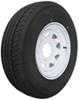 "Karrier ST225/75R15 Radial Trailer Tire with 15"" White Wheel - 6 on 5-1/2 - Load Range D"