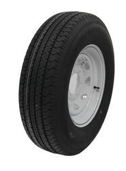 "Karrier ST225/75R15 Radial Tire with 15"" White Spoke Wheel - 6 on 5-1/2"" - Load Range E"