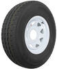 "Karrier ST235/85R16 Radial Trailer Tire with 16"" White Wheel - 8 on 6-1/2 - Load Range E"