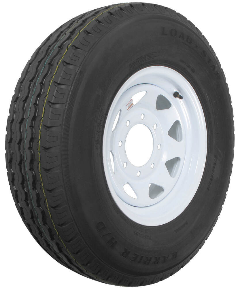 """Karrier ST235/85R16 Radial Trailer Tire with 16"""" White ..."""