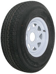 "Karrier ST235/85R16 Radial Trailer Tire with 16"" White Wheel - 6 on 5-1/2 - Load Range E"