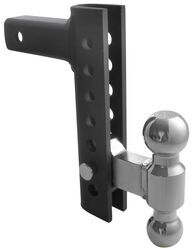 "EZ Hitch Adjustable, Steel Ball Mount Kit w/ 2 Hitch Balls - 8"" Drop or Rise - 10,000 lbs"
