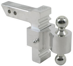 "Rapid Hitch Adjustable Aluminum Ball Mount Kit - 2 Zinc Balls - 5-1/2"" Drop, 6-1/2"" Rise"