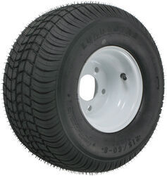 "Kenda 215/60-8 Bias Trailer Tire with 8"" White Wheel - 5 on 4-1/2 - Load Range D"