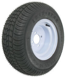 "Kenda 205/65-10 Bias Trailer Tire with 10"" White Wheel - 4 on 4 - Load Range B"