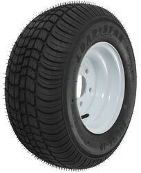 "Kenda 205/65-10 Bias Trailer Tire with 10"" White Wheel - 5 on 4-1/2 - Load Range D"