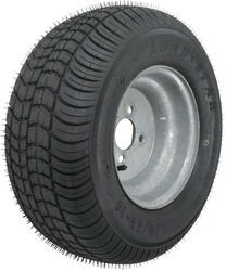 "Kenda 205/65-10 Bias Trailer Tire with 10"" Galvanized Wheel - 4 on 4 - Load Range E"