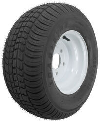 "Kenda 205/65-10 Bias Trailer Tire with 10"" White Wheel - 5 on 4-1/2 - Load Range E"