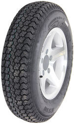 "Loadstar ST175/80D13 Bias Trailer Tire with 13"" Aluminum Wheel - 5 on 4-1/2 - Load Range B"