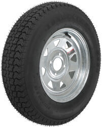 "Loadstar ST175/80D13 Bias Trailer Tire with 13"" Galvanized Wheel - 4 on 4 - Load Range B"