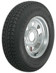 "Loadstar ST175/80D13 Bias Trailer Tire with 13"" Galvanized Wheel - 5 on 4-1/2 - Load Range B"
