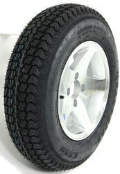 "Loadstar ST175/80D13 Bias Trailer Tire with 13"" Aluminum Wheel - 4 on 4 - Load Range B"