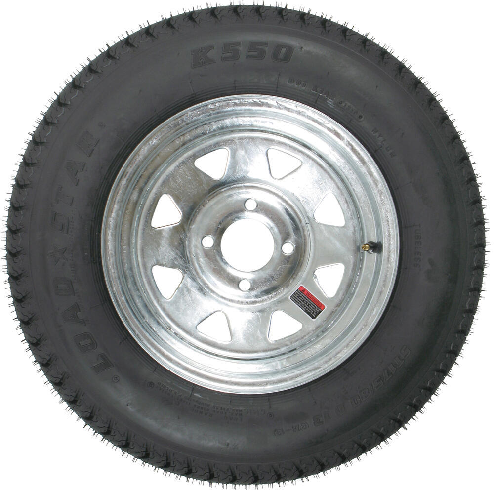 Three Wheeler Tires : Loadstar st d bias trailer tire with quot galvanized