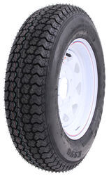 "Loadstar ST175/80D13 Bias Trailer Tire with 13"" White Wheel - 5 on 4-1/2 - Load Range C"