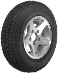"Loadstar ST175/80D13 Bias Trailer Tire with 13"" Aluminum Wheel - 5 on 4-1/2 - Load Range C"