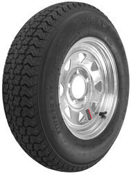 "Loadstar ST175/80D13 Bias Trailer Tire with 13"" Galvanized Wheel - 5 on 4-1/2 - Load Range C"