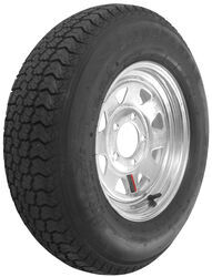 "Loadstar ST185/80D13 Bias Trailer Tire with 13"" Galvanized Wheel - 5 on 4-1/2 - Load Range D"