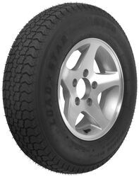 "Loadstar ST185/80D13 Bias Trailer Tire with 13"" Aluminum Wheel - 5 on 4-1/2 - Load Range D"