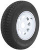 "Loadstar ST205/75D14 Bias Trailer Tire with 14"" White Wheel - 5 on 4-1/2 - Load Range B"