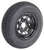 "Loadstar ST205/75D14 Bias Trailer Tire with 14"" Black Wheel - 5 on 4-1/2 - Load Range C"