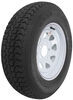 "Loadstar ST215/75D14 Bias Trailer Tire with 14"" White Wheel - 5 on 4-1/2 - Load Range C"