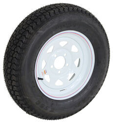 "Loadstar ST205/75D15 Bias Trailer Tire with 15"" White Wheel - 5 on 4-1/2 - Load Range B"
