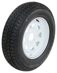 "Loadstar ST205/75D15 Bias Trailer Tire w/ 15"" White Spoke Wheel - 5 on 4-1/2 - Load Range C"