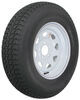 "Loadstar ST225/75D15 Bias Trailer Tire with 15"" White Wheel - 5 on 4-1/2 - Load Range D"