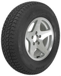 "Loadstar ST225/75D15 Bias Trailer Tire with 15"" Aluminum Wheel - 5 on 4-1/2 - Load Range D"