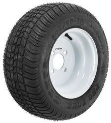 "Kenda 205/50-10 Bias Golf Car Tire with 10"" White Wheel - 4 on 4 - Load Range B"