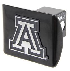 University of Arkansas Razorbacks Black with Chrome Running Hog Emblem NCAA College Sports Metal Trailer Hitch Cover Fits 2 Inch Auto Car Truck Receiver