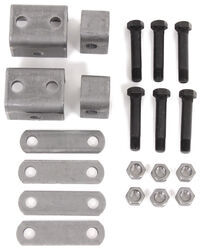"Single-Axle Trailer Hanger Kit for Double-Eye Springs - 1-1/2"" Front, 7/8"" Rear"