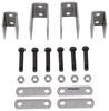 "Single-Axle Trailer Hanger Kit for Double-Eye Springs - 3-1/4"" Front, 1-1/4"" Rear"
