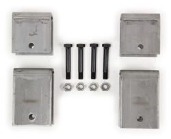 "Single-Axle Trailer Hanger Kit for 2"" Slipper Springs - 3-3/4"" Tall Front"