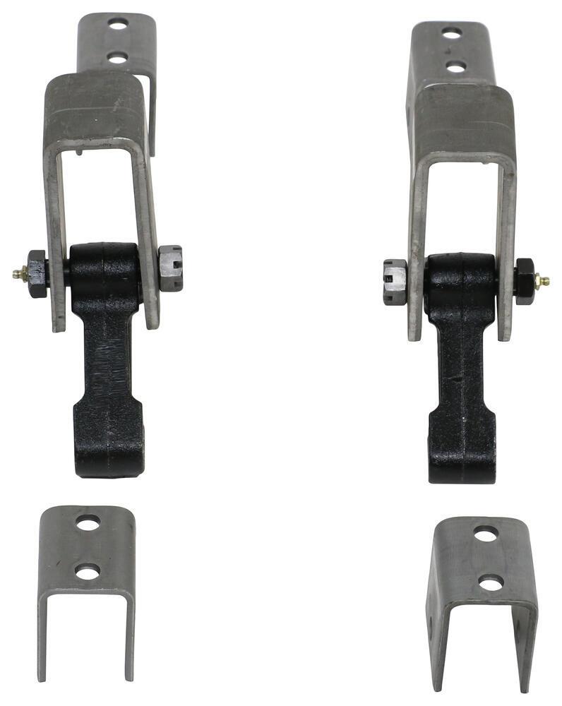 Tandem axle trailer hanger kit for double eye springs 2 for Suspension double