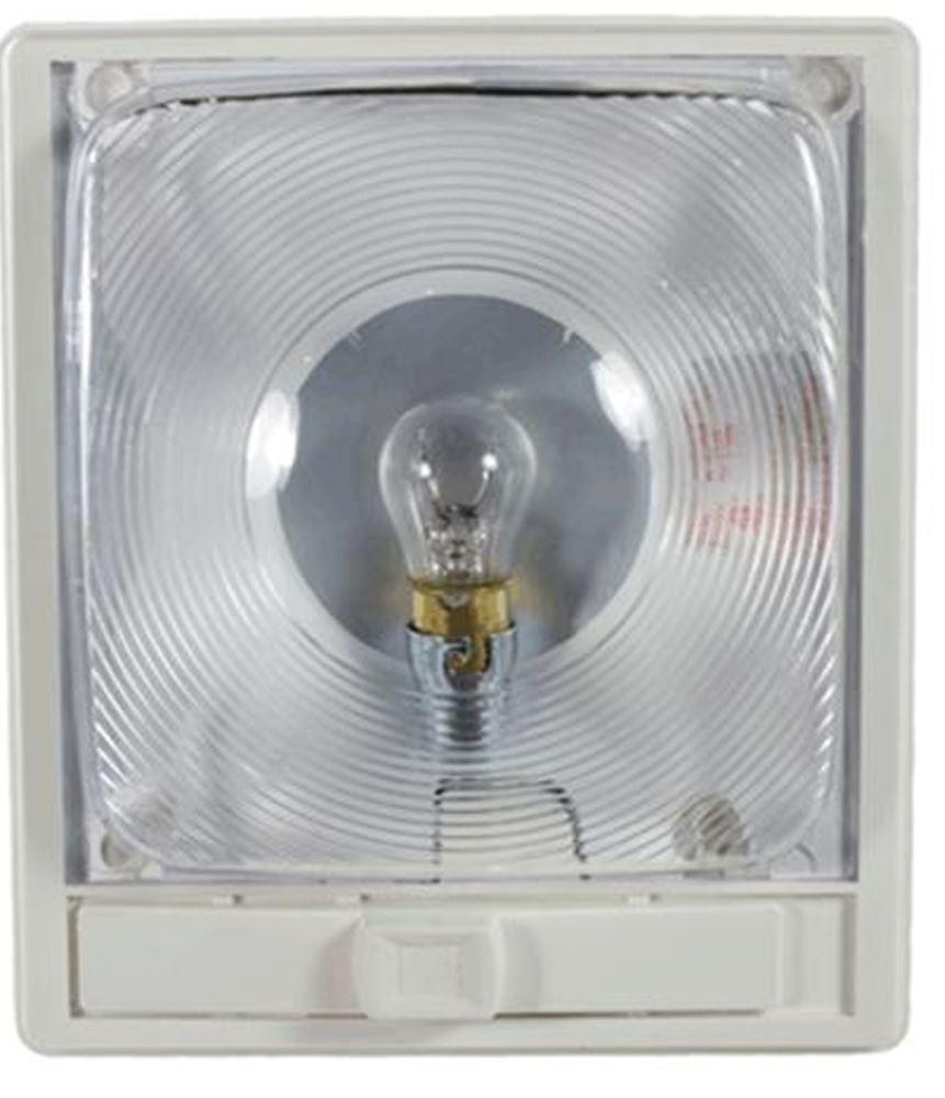 Rectangular Interior Trailer Light With Switch Optic Lens 12v Arcon Trailer Lights Ar11824